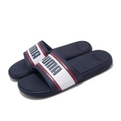 Puma 涼拖鞋 Cool Cat Sport Retro男鞋 輕便 簡約 大logo 夏日 套腳 穿搭 藍 白 37384703