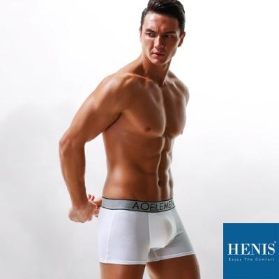HENIS DIAMOND 時尚鑽格織帶 槍彈分離 機能四角褲 (白)