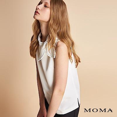 MOMA 立體車線領結無袖上衣