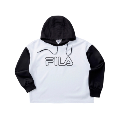 FILA KIDS 童長袖針織連帽T恤-白色 5TET-8409-WT