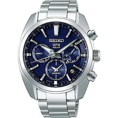 SEIKO 精工 Astron 5X53 雙時區太陽能GPS衛星定位手錶 SSH019J1