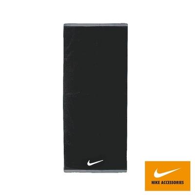 NIKE 毛巾 健身 慢跑 籃球 運動毛巾-大 120 x 60cm 黑 NET17010MD