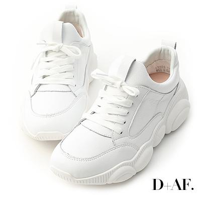 D+AF 街拍潮流.小熊鞋底真皮老爹鞋*白