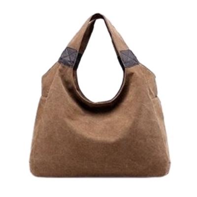 米蘭精品 手提包帆布側背包-簡約休閒隨性大容量肩背女包情人節生日禮物12款73wa37