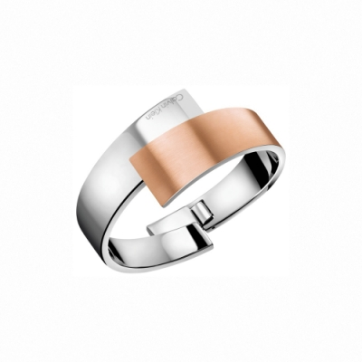 CALVIN KLEIN Intense系列經典雙色金個性手環-S