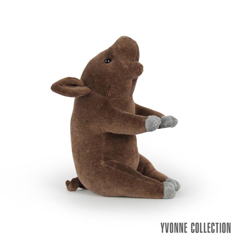 Yvonne Collection 豬豬造型小玩偶- 深咖啡