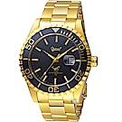 Ogival愛其華夜鷹氚氣燈管潛水型腕錶(3985TGK)金色43mm