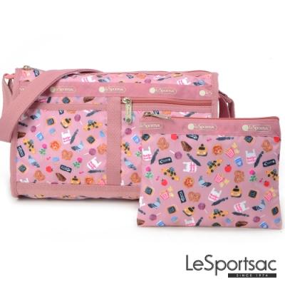 LeSportsac - Standard雙口袋斜背包-附化妝包 (城市日常)