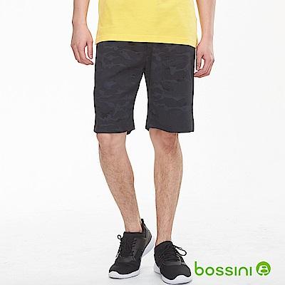 bossini男裝-針織休閒短褲02黑