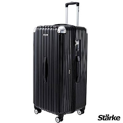 Starke LUXURY- 01 32吋PC耐撞TSA海關鎖拉鏈行李箱/旅行箱 -黑色