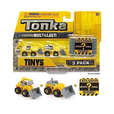 Tonka 迷你貨櫃車 工程組系列+隱藏角色-三入(3Y+)