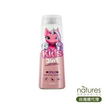 澳洲Natures Organics 植粹兒童3合1洗髮沐浴露(獨角獸)Berry Bliss 400ml