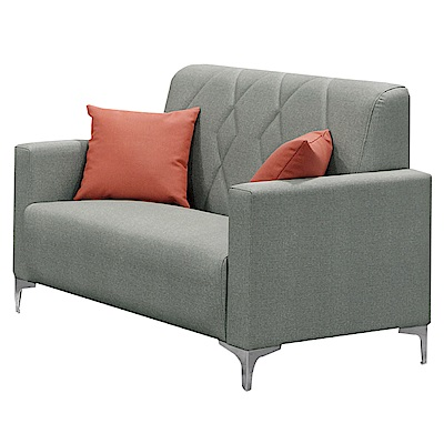 文創集 賽芙時尚貓抓皮革二人座沙發椅-121x78x92cm免組