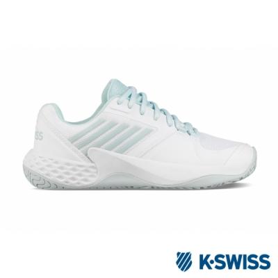 [零碼出清]K-SWISS Aero Court輕量進階網球鞋-女-白/粉綠