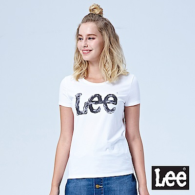 Lee 水彩大LOGO短袖Tee-白色