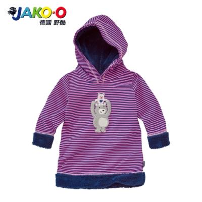 JAKO-O 德國野酷-長袖帽T連身裙-粉紫