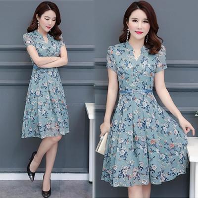 【韓國K.W.】特惠款時尚顯瘦名媛洋裝