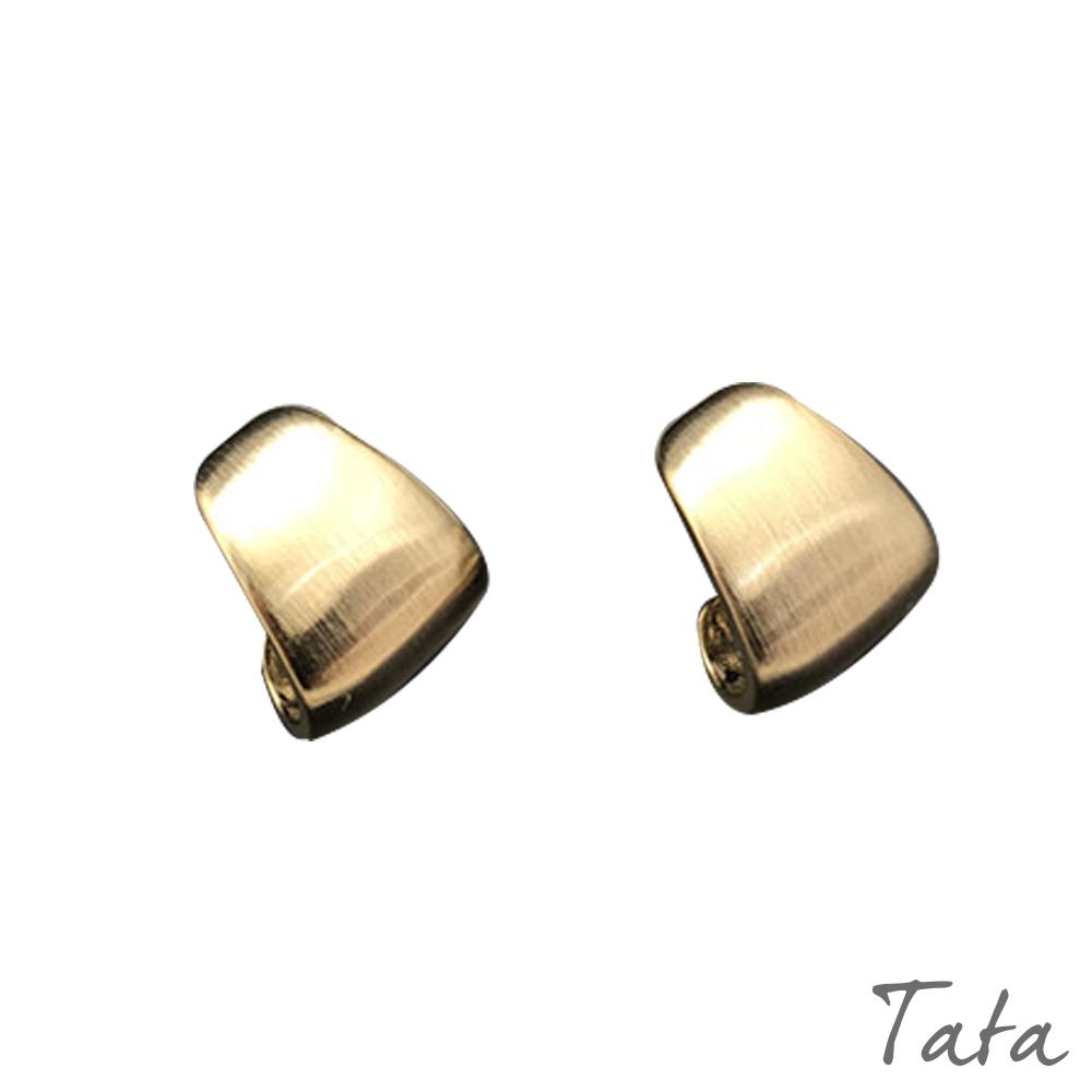 彎曲造型金屬耳環 共二色 TATA