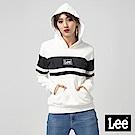 Lee 小LOGO長袖連帽厚TEE/RG-標準版-白