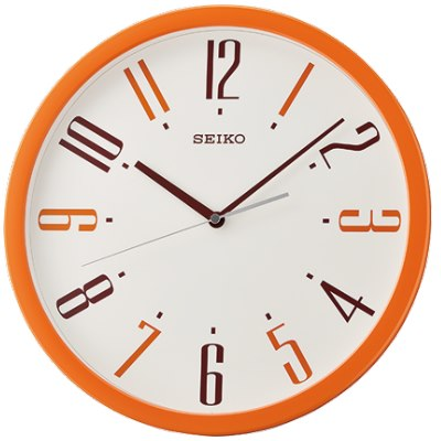 SEIKO 日本精工 滑動式秒針 靜音掛鐘(QXA729E)-菊/36cm