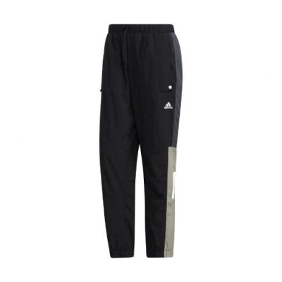 adidas 長褲 MH Woven Pants 運動休閒 男款 愛迪達 三葉草 寬鬆 基本款 口袋 黑 白 GE0393