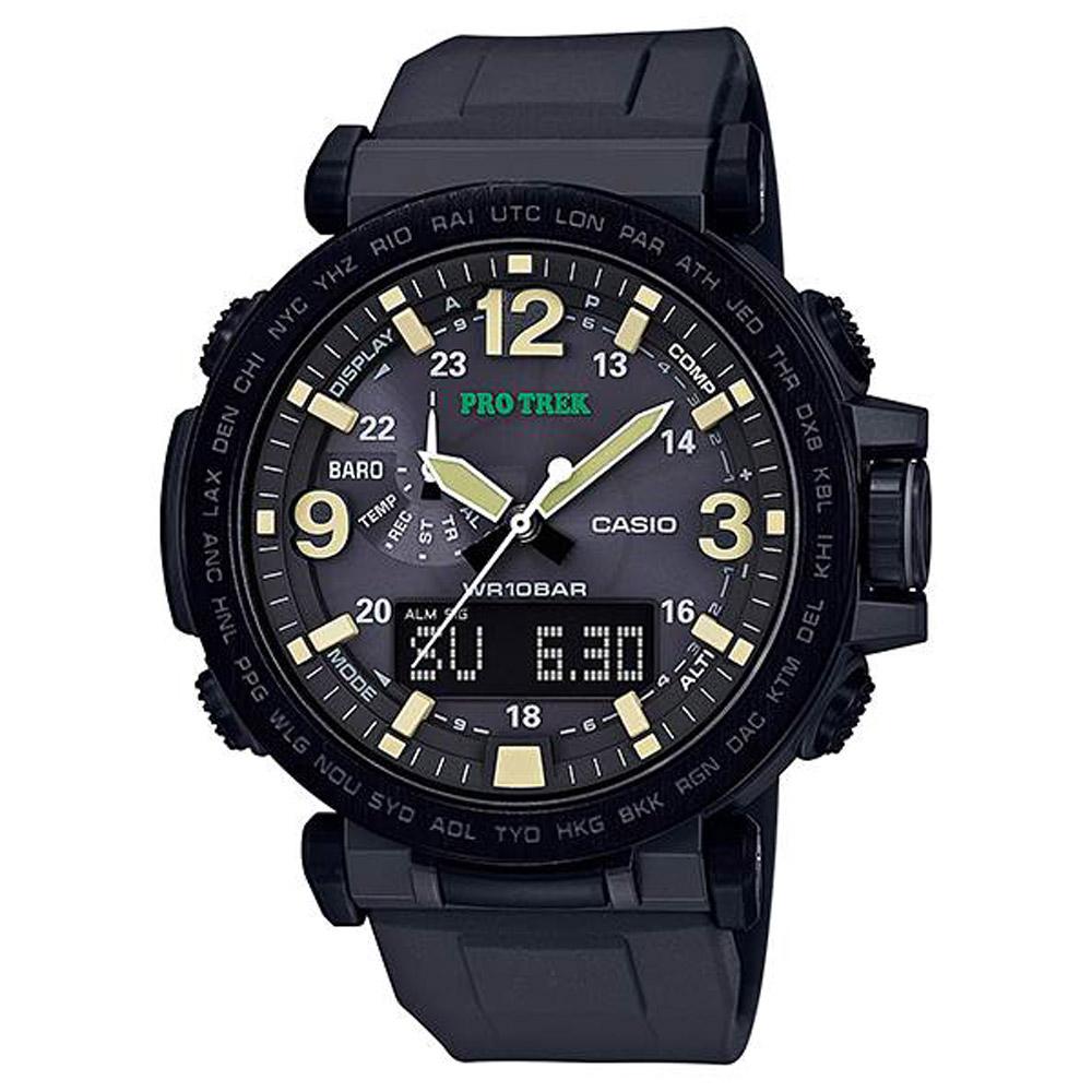 CASIO PRO TREK 堅韌耐低溫全方位活動登山錶(PRG-600Y-1)