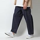 丹寧寬褲寬版純棉丹寧牛仔褲(1色) ZIP日本男裝