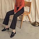 純色西裝喇叭褲-OB大尺碼