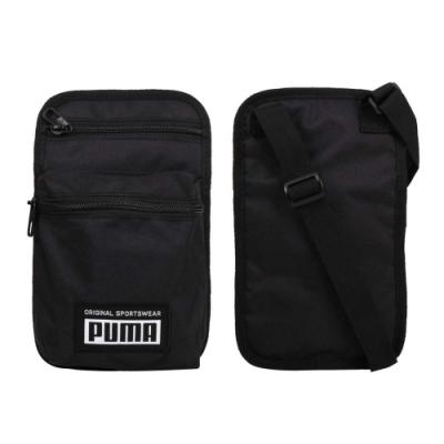 PUMA 側背小包-ACADEMY 斜背包 肩背包 隨身包 07730401 黑白
