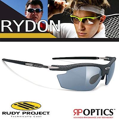Rudy Project RYDON 專業抗紫外線鍍銀運動眼鏡_碳灰色框+黑色鍍銀片
