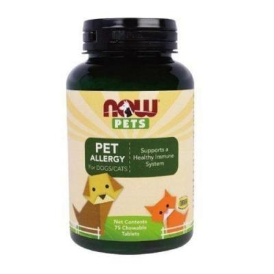 NOW PETS 每朝保健 寵物過敏咀嚼錠 75顆