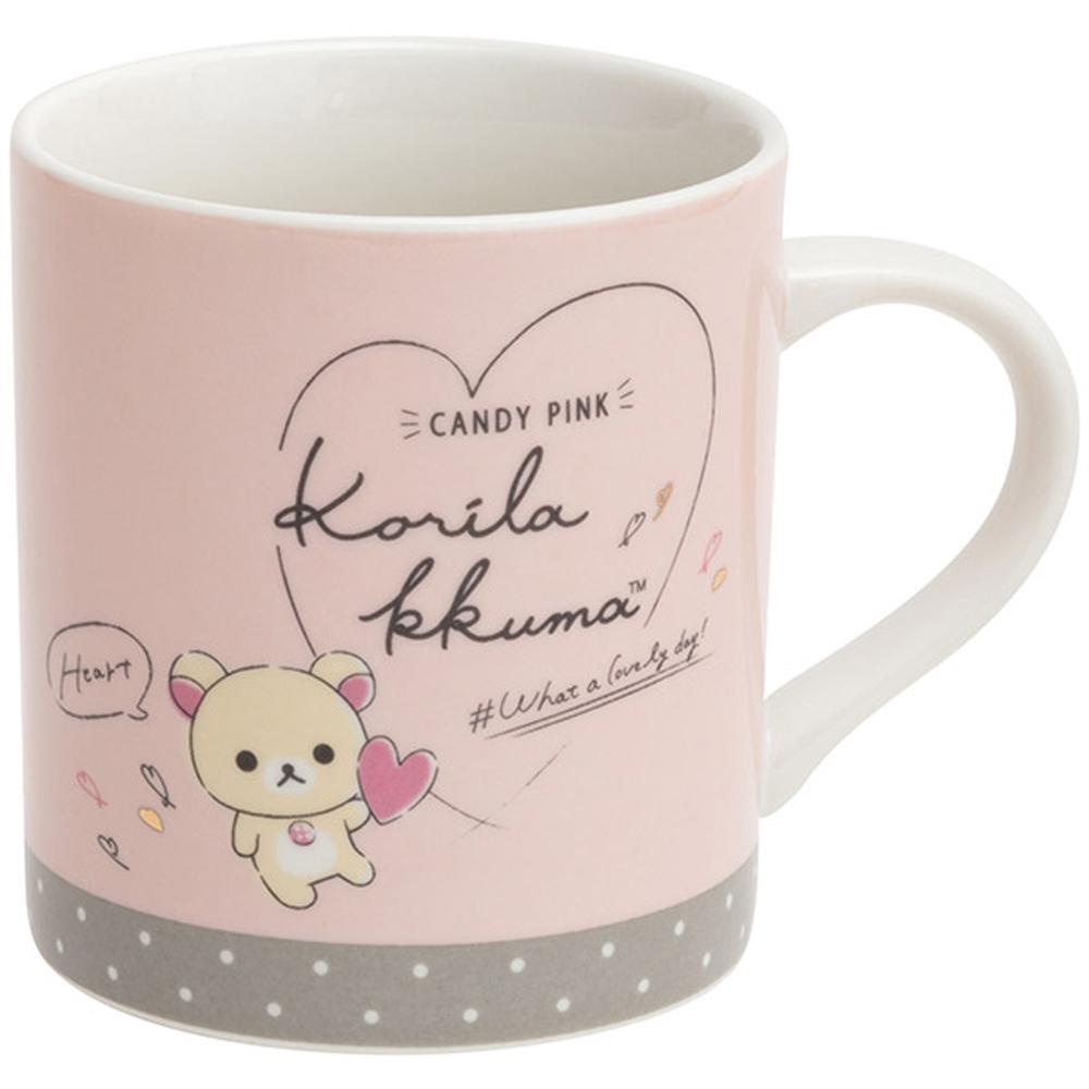 拉拉熊美麗日記系列陶瓷馬克杯。粉 San-X