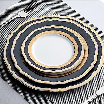 Royal Duke 黃金凱薩西式花型盤/平盤/餐盤3件組(典雅英式風