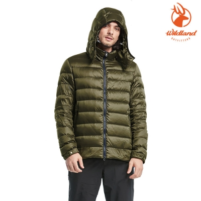 WildLand 男700FP可回溯羽絨外套0A82102 墨綠色