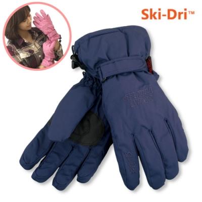 SNOW TRAVEL 英國兩件式可拆防水透氣手套.二合一手套.內刷毛手套_深藍