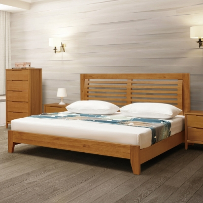 H&D 米堤柚色床片型床台