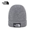 The North Face北面男女款灰色保暖毛帽 3FJXDYY