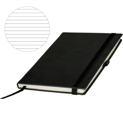 《REFLECTS》精裝橫線筆記本(黑)
