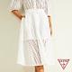 GUESS-女裝-氣質簍空蕾絲雙層半身長裙-白 原價2990 product thumbnail 1