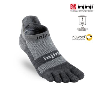 【INJINJI】RUN輕量羊毛五趾隱形襪[碳黑] 五指襪 隱形襪 羊毛襪 五趾襪