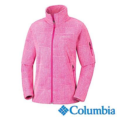 Columbia 哥倫比亞 女款-立領刷毛外套-桃紅 UER10120FC