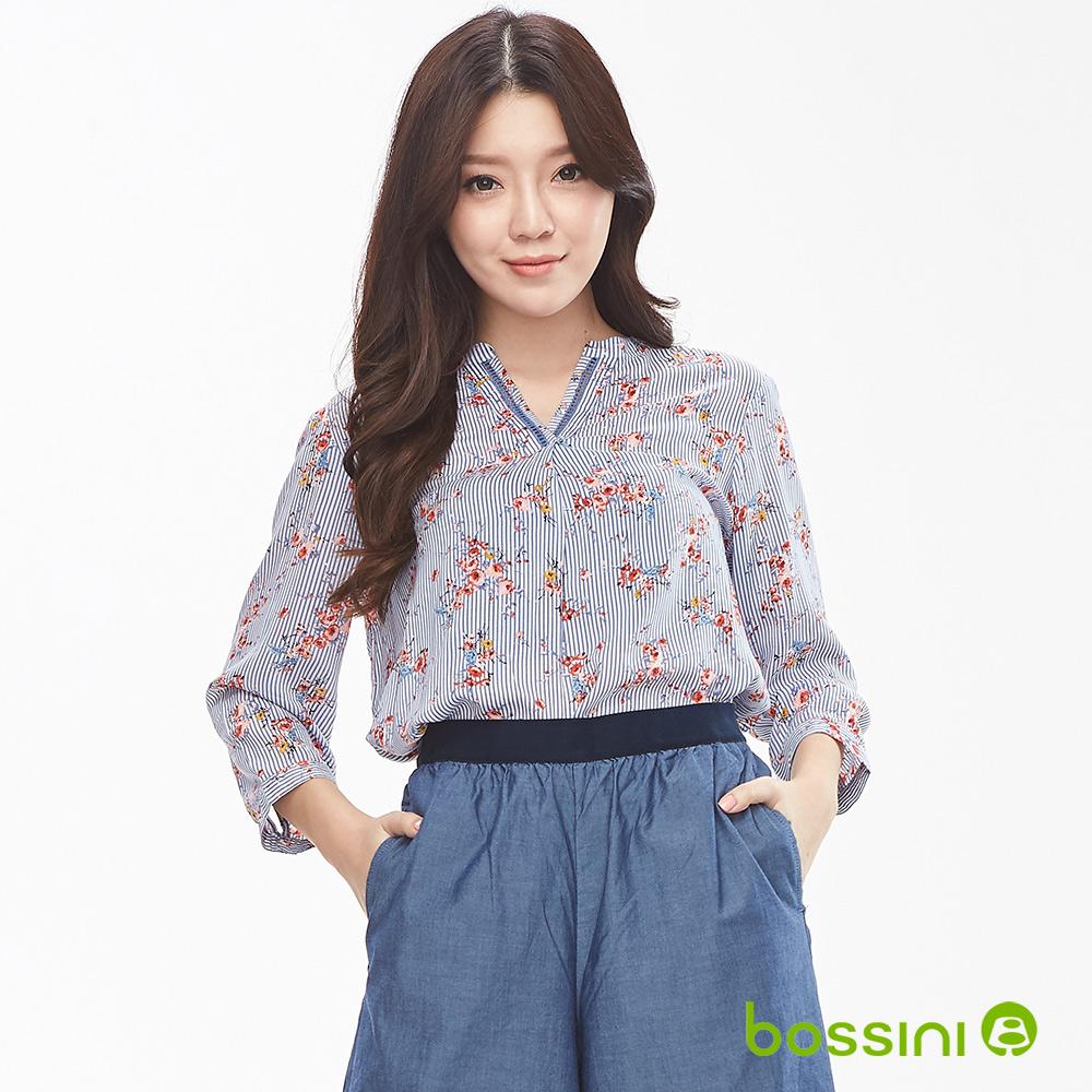 bossini女裝-圖案7分袖罩衫03天藍