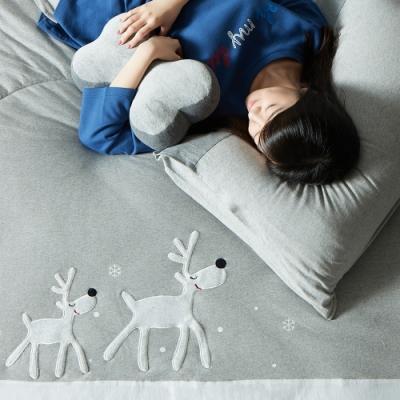 YVONNE COLLECTION 馴鹿雙人四季被(6x7呎)-淺灰