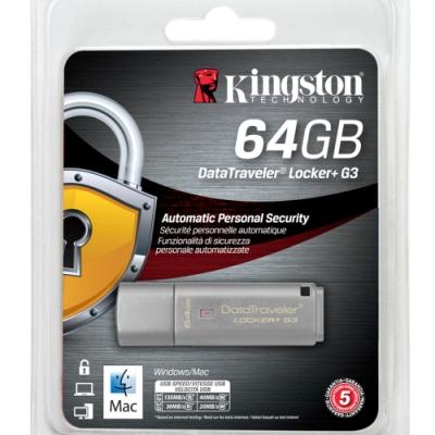 金士頓 Kingston DataTraveler Locker+G3 USB3.0 64G 加密隨身碟 DTLPG3/64GB