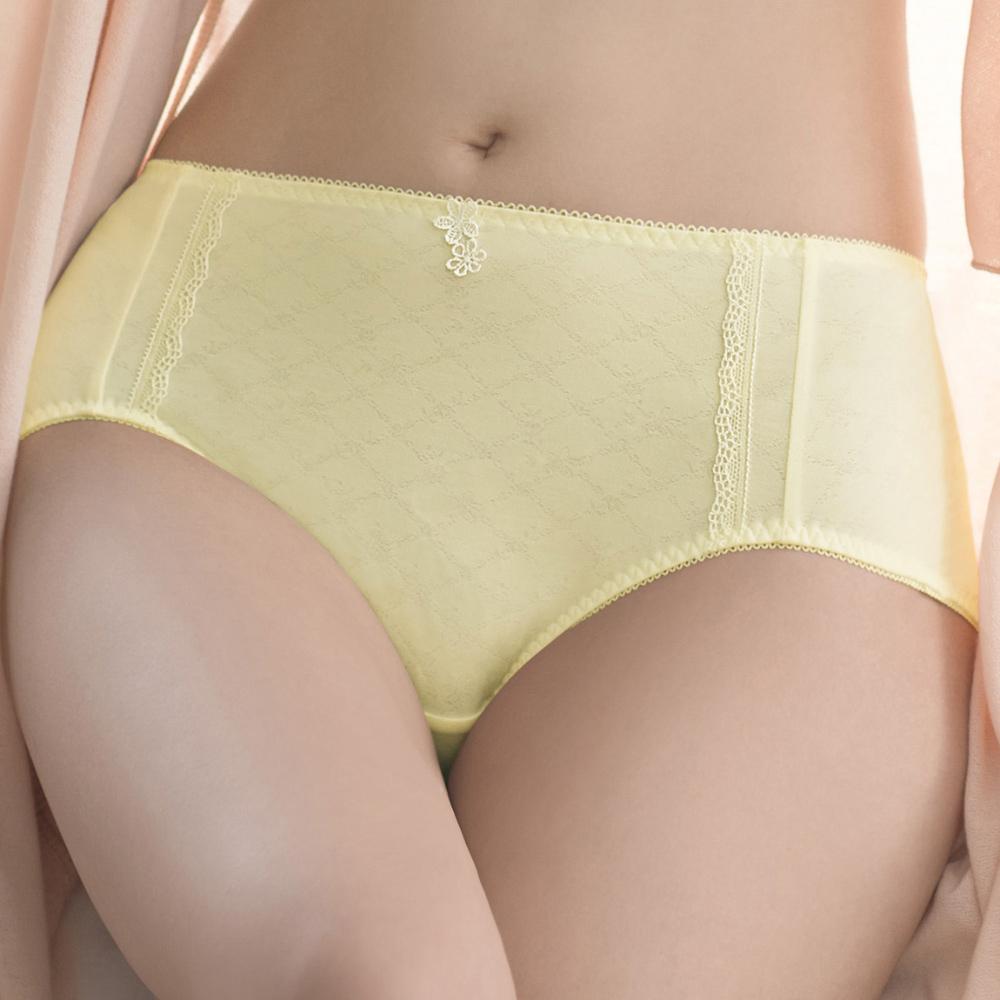 華歌爾 TENCELR 天絲環保系列 M-LL中腰三角褲(陽光黃)