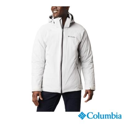 Columbia 哥倫比亞 男款 - Omni-Tech防水鋁點保暖650羽絨兩件式外套-灰色 UWE11570GY