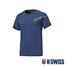 K-SWISS HS Round Shirt韓版排汗T恤-男-深藍