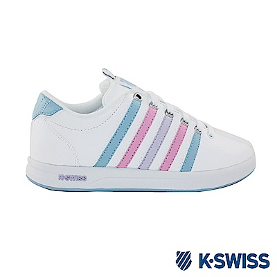 K-Swiss Court Pro S CMF休閒運動鞋-女-白/水藍/粉紅