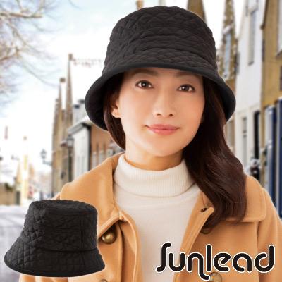 Sunlead 吸濕發熱fleece菱形絎縫軟帽 (黑色)