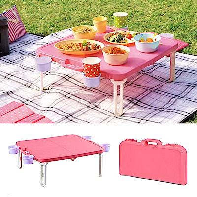 日本SHINWA伸和 野餐桌(粉)